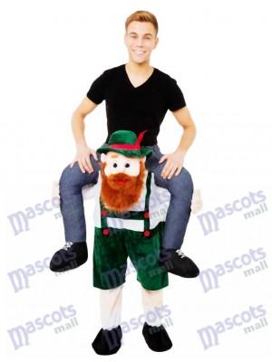 Piggy Back Carry Me Bavarois Bière Guy Ride Mascotte Costume Déguisements