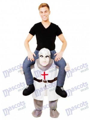 Les Croisades Piggy Back Carry Me Costume de mascotte Crusader Knight Déguisements