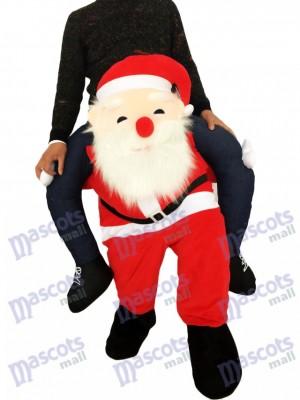 Piggyback Santa Claus Carry Me Ride Costume de mascotte de Père Noël