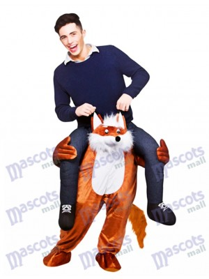 Carry Me Fantastique Renard Piggy Retour Mascotte Costume Ride Sur Funny Déguisements
