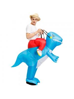 Dinosaure Balade sur Gonflable Costume Coup en haut Costume pour Adulte/Enfant Bleu