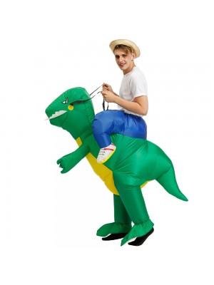 Dinosaure Balade sur Gonflable Costume Coup en haut Costume pour Adulte/Enfant Vert