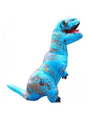 Bleu Tyrannosaurus T-Rex Dinosaure Gonflable Costume Halloween Noël pour Adulte/enfant