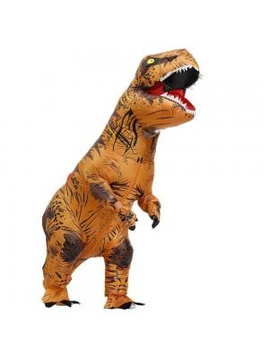 marron Tyrannosaurus T-Rex Dinosaure Gonflable Costume Halloween Noël pour Adulte/enfant