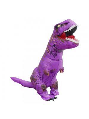 Violet Tyrannosaurus T-Rex Dinosaure Gonflable Costume Halloween Noël pour Adulte/enfant