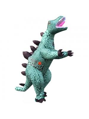 Bleu stégosaure Dinosaure Gonflable Costume Halloween Noël Vacances Costume pour Adulte