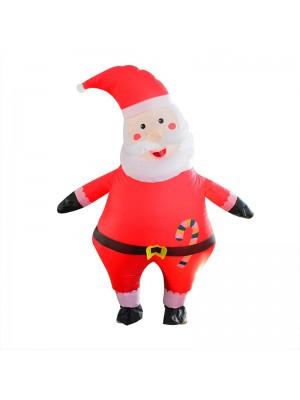 Père Noël Claus Gonflable Costume Halloween Noël Costume pour Adulte Bonbons Père Noël