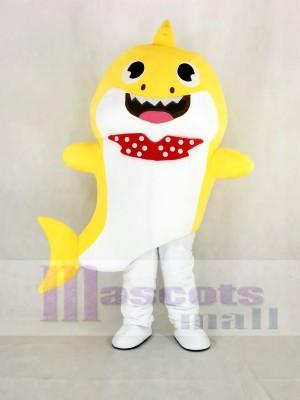 PinkFong Jaune Bébé Requin Mascotte Costume Dessin animé
