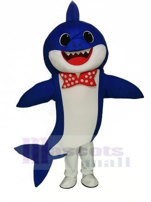 PinkFong Bleu Bébé Requin Mascotte Costume Dessin animé