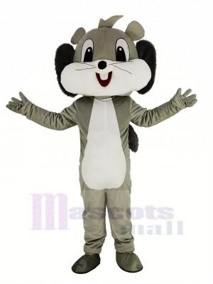 Mignonne Gris Écureuil Mascotte Costume Animal