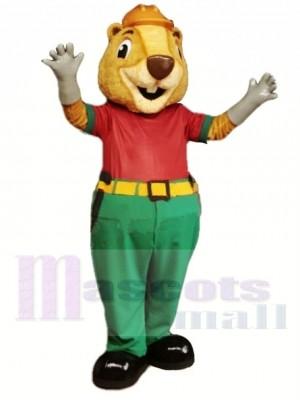 Castor beige Costume de mascotte