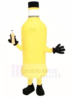 Bouteille orange Costume de mascotte