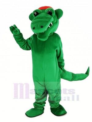 Tuf Gator avec rouge Chapeau Mascotte Costume Animal