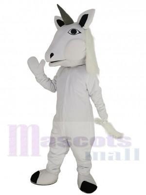 Cheval Licorne Blanc Costume de mascotte Animal