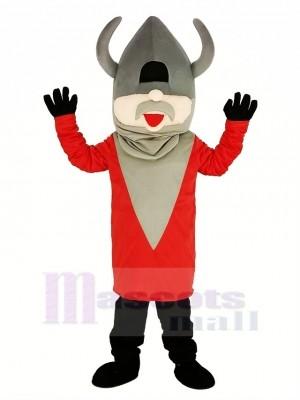 Écervelé Viking avec rouge Manteau Mascotte Costume Gens