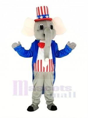 Patriotique l'éléphant Mascotte Costume Animal