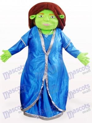 Costume de mascotte Fiona Shrek Anime vert