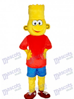Bart Simpson le costume adulte de mascotte de Simpsons Cartoon Anime
