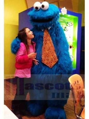 Superbe rue Sésame Bleu Cookie Monster Costume de mascotte