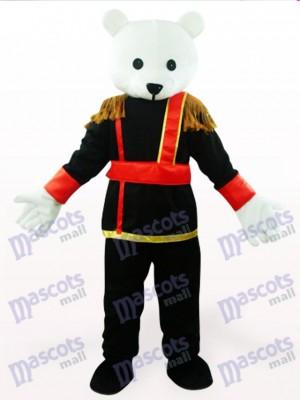 Costume de mascotte d'anime de nounours masculin noir et blanc