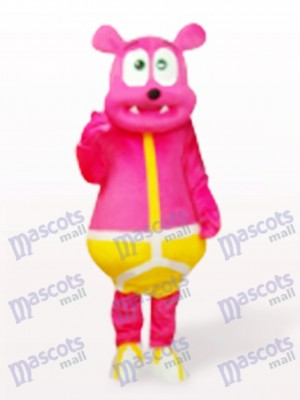 Ours rose Costume de mascotte de monstre Cartoon