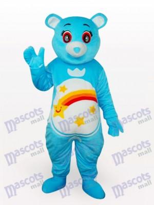 Ours bleu Costume de mascotte adulte en peluche courte