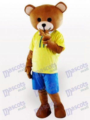 Costume de mascotte adulte ours en peluche