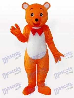 Le costume de mascotte d'animal d'ours orange de Hey