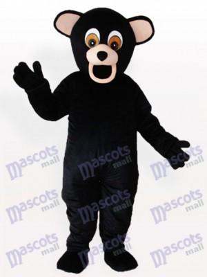 Costume de mascotte d'animal noir d'ours