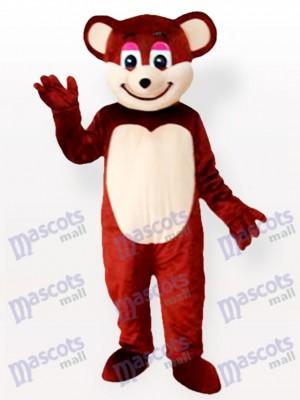 Déguisement de mascotte animal ours brun souriant