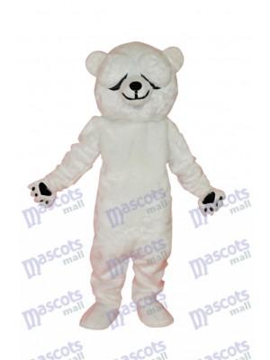 Costume de mascotte des ours polaires simple et honnête Animal