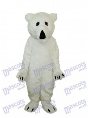 Costume de mascotte d'ours polaire en laine longue Animal