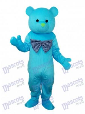 Heureux ours bleu mascotte Costume adulte Animal