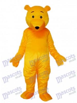 Costume adulte mascotte ours jaune Animal