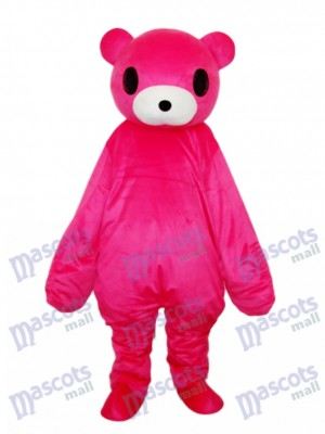 Costume adulte mascotte ours rouge