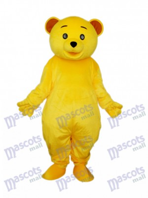Costume de mascotte jaune nounours Mascotte