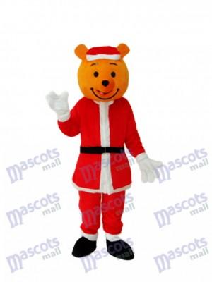 Costume adulte de mascotte jaune ours de Noël Animal