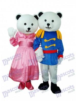 Général Ours Couple Mascotte Costume adulte Animal