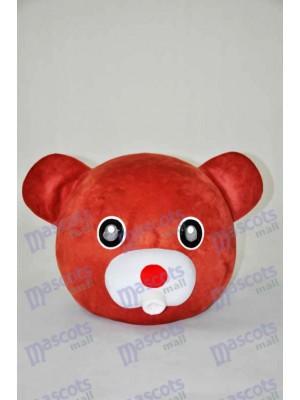 Tête d'ours en peluche Ours brun UNIQUEMENT Mascotte Costume Animal