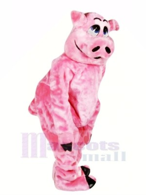 Belle Rose Porc Mascotte Les costumes Animal