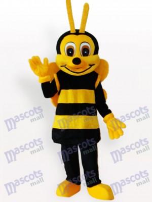 Costume drôle de mascotte d'insecte jaune noir d'abeille