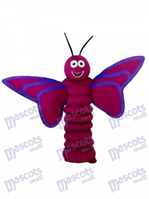 Mascotte de papillon violet pourpre adulte insecte