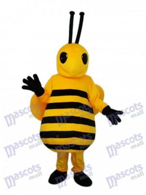 Petit insecte de costume de mascotte d'abeille jaune