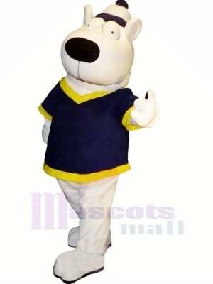 blanc Ours avec Gros Les yeux Mascotte Les costumes Animal