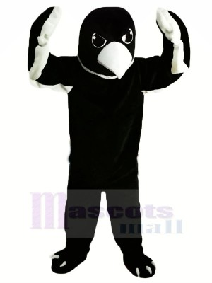 Noir Bébé Aigle Mascotte Les costumes Animal
