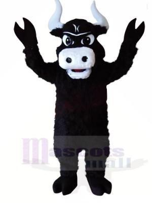 Fort Noir Taureau Mascotte Les costumes Animal