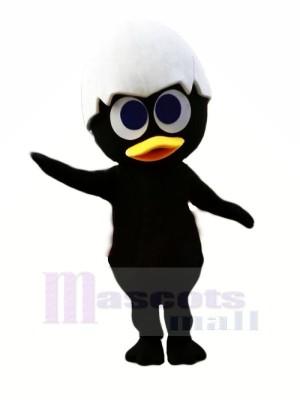 Noir Bébé Poussin Mascotte Les costumes Animal