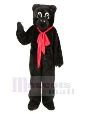 Noir Ours avec rouge Arc Mascotte Les costumes Animal