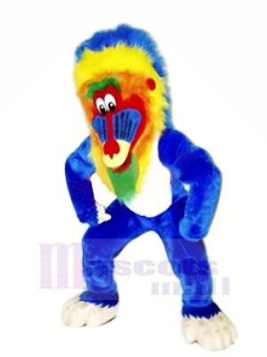 Marrant Bleu Babouin Mascotte Les costumes Animal