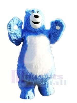 Fort Bleu Ours Mascotte Les costumes Animal